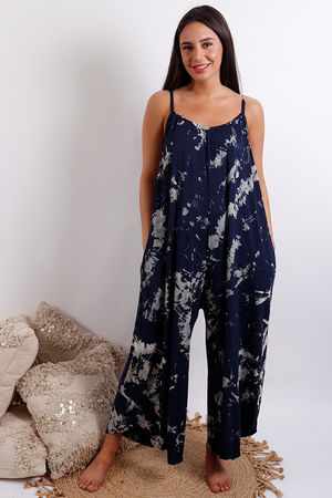 Thunder Culotte Jumpsuit Navy