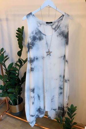 Tie Dye Cocoon Archie Dress Greys