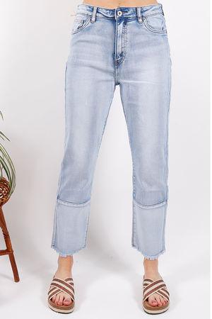 Toxic Frayed Edge Turn Up Jean