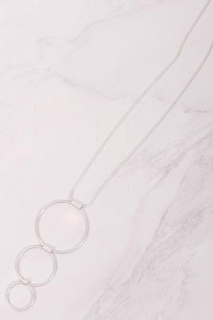 Triple Hoop Necklace Silver