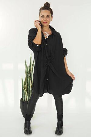Twist Front Shirt Black