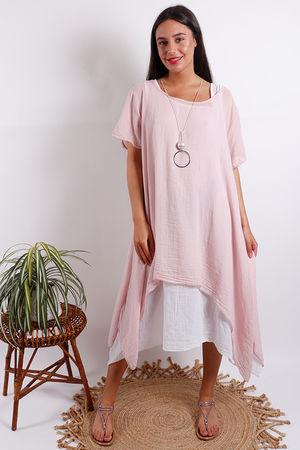 Two Layer Dress Blush