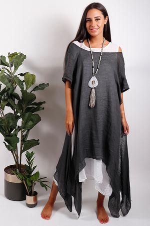 Two Layer Dress Graphite