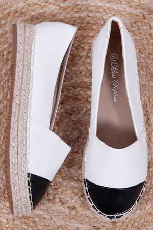 Two Tone Espadrille White