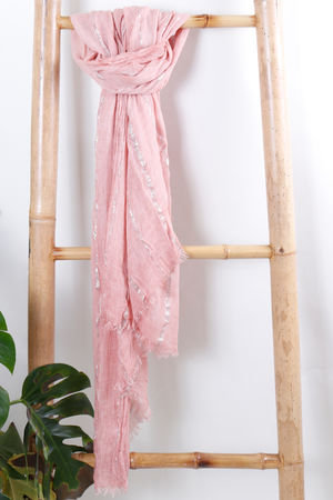 Vintage Ibiza Scarf Faded Rose