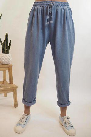 Vintage Wash Sweat Pants Light Denim