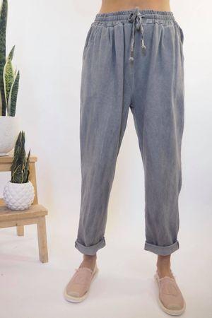 Vintage Wash Sweat Pants Steel **
