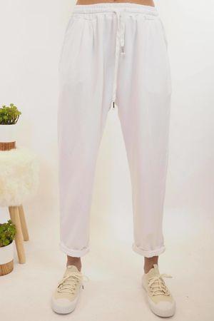 Vintage Wash Sweat Pants White