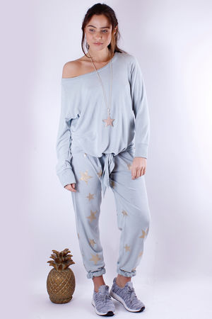 Viv Tie Front Sweat Julep Grey