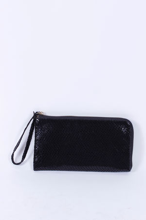 Malissa J Zip Around Wallet Clutch Black