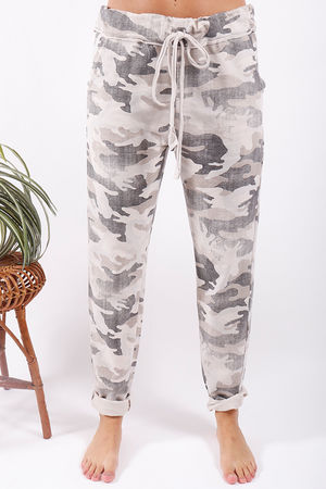 Washed Camo Joggers Cream