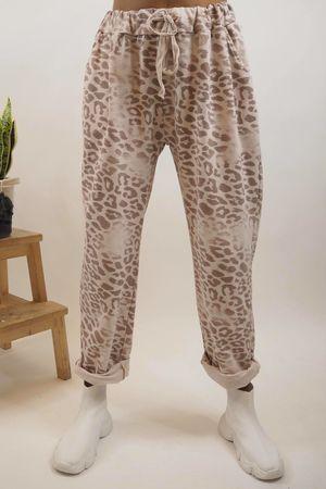 Washed Leopard Jogger Blush