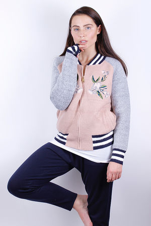 Woollen Embroidered Varsity Jacket