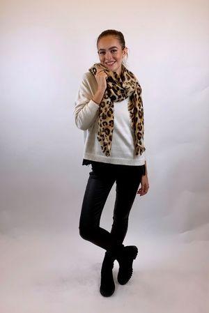 The Charli Breton Shortie Knit Warm White