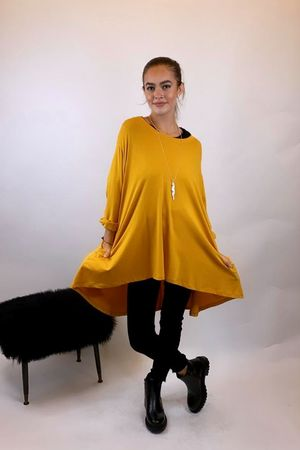 The Oversized Trapeze Top Ochre