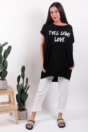 Yves Saint Love Top Black