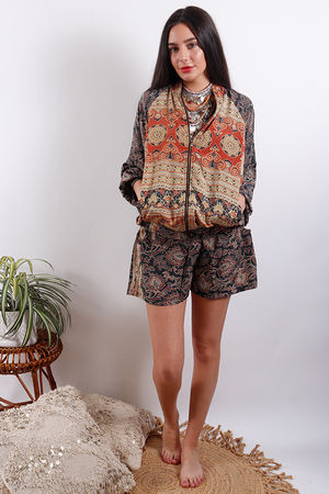 Zen Ethics Assam Printed Jacket