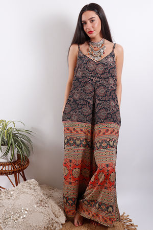 Zen Ethics Assam Printed Jumpsuit