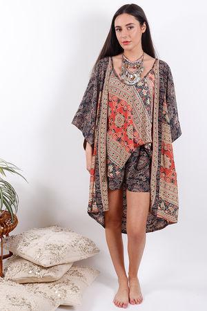 Zen Ethics Assam Printed Kimono