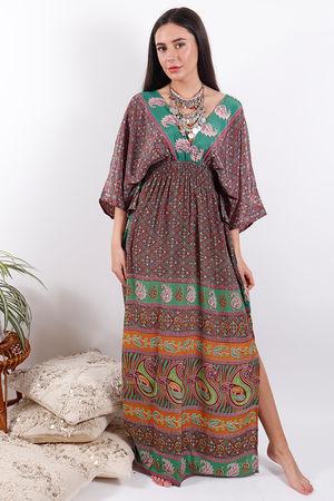 Zen Ethics Puna Printed Kimono Dress
