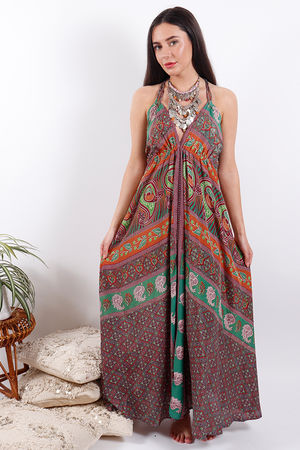Zen Ethics Puna Printed Maxi Dress