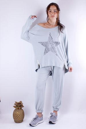 Zip Star Sweat Julep Grey