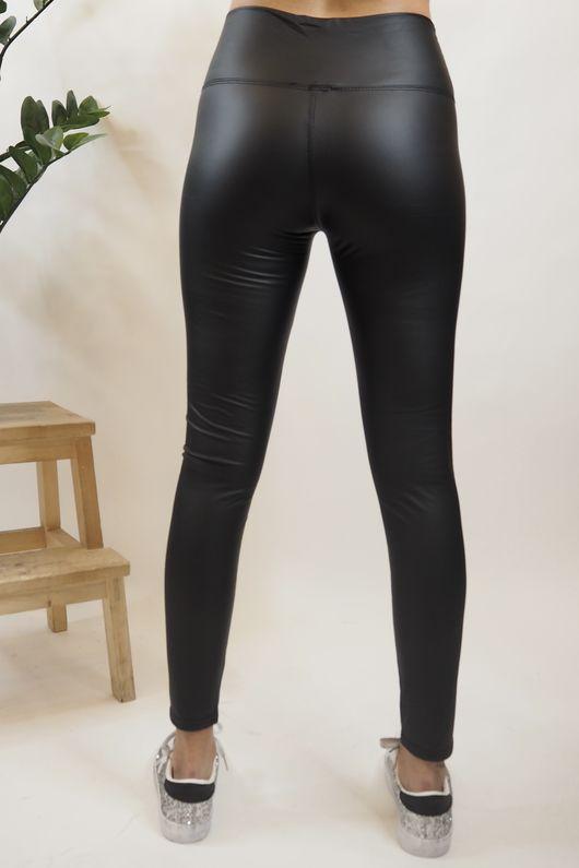 Leather Look Leggings Black
