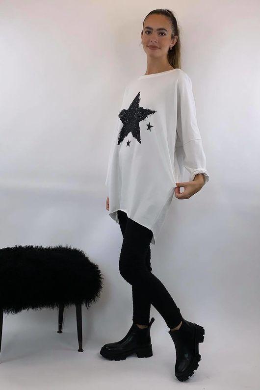 4 Star Popoon Tunic Winter White