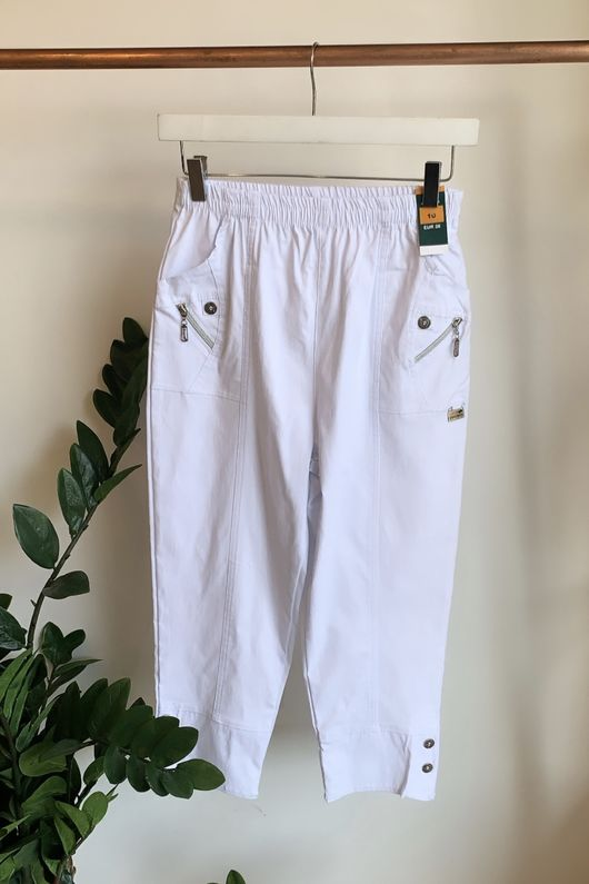 The Hepburn Pant White