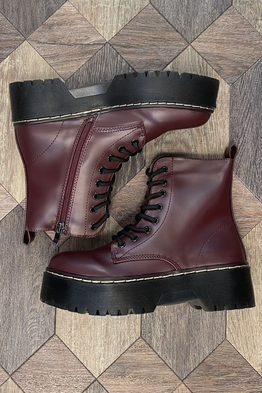 The Roxy Stack Boot Oxblood