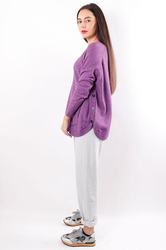 Benji Button Side Knit Ultra Violet