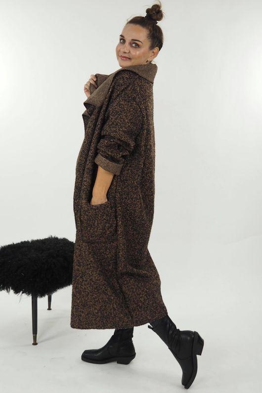 Boucle Blanket Coat Tan