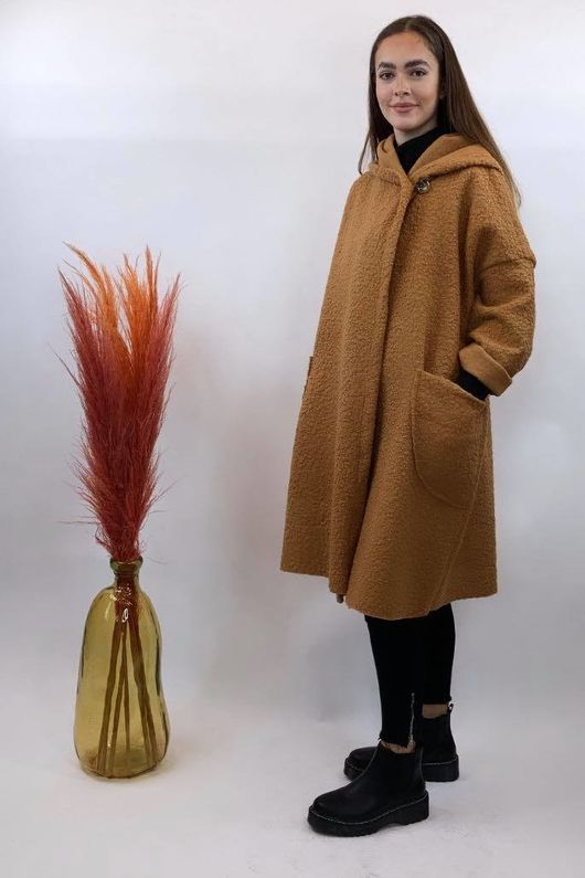 Boucle Benji Coat Caramel