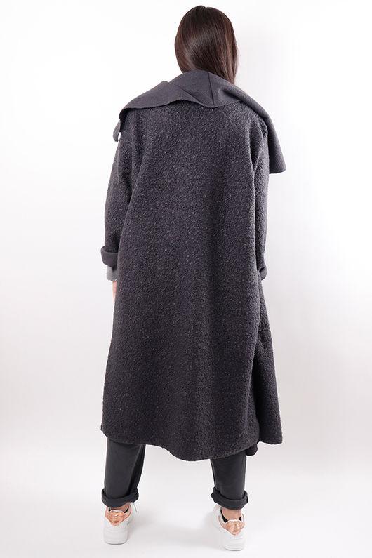 Boucle Duster Coat Graphite
