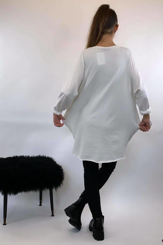Bye Felicia Popoon Tunic Winter White