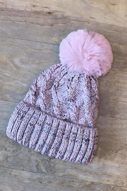 Cable Bobby Hat Blush