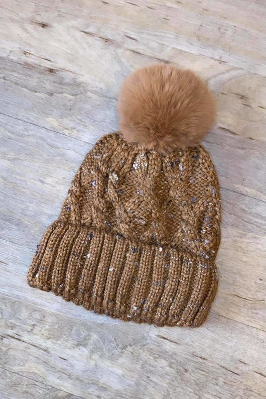 Cable Bobby Hat Soft Tan