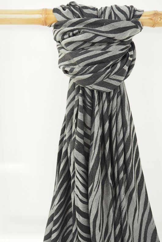 Classic Zebra Soft Touch Scarf Greys