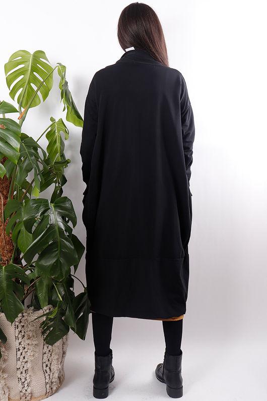 Cocoon Jersey Cardigan Black