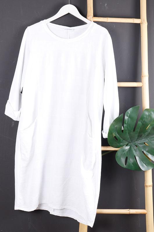 Copenhagen Textured Stripe Dress White