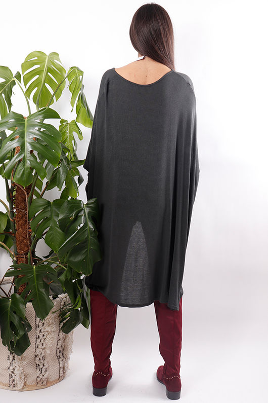 Dawny Mesh Slouch Top Graphite