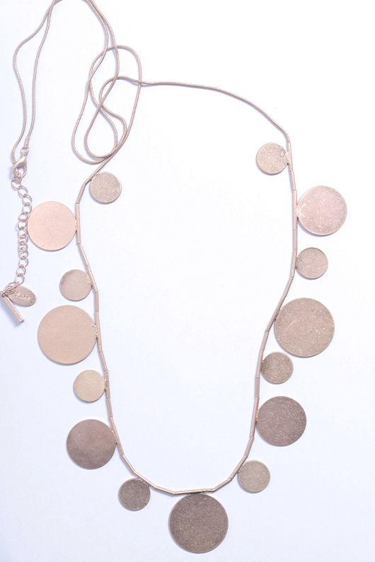 Desert Disc Necklace Gold