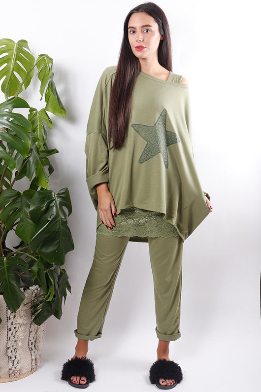 The Chloe Star Sweat Green