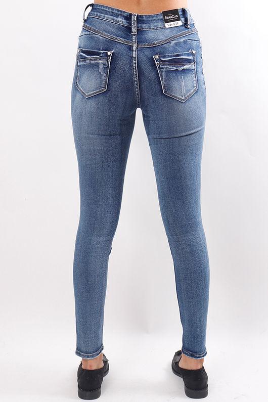 Distressed Denim Skinny Jeans
