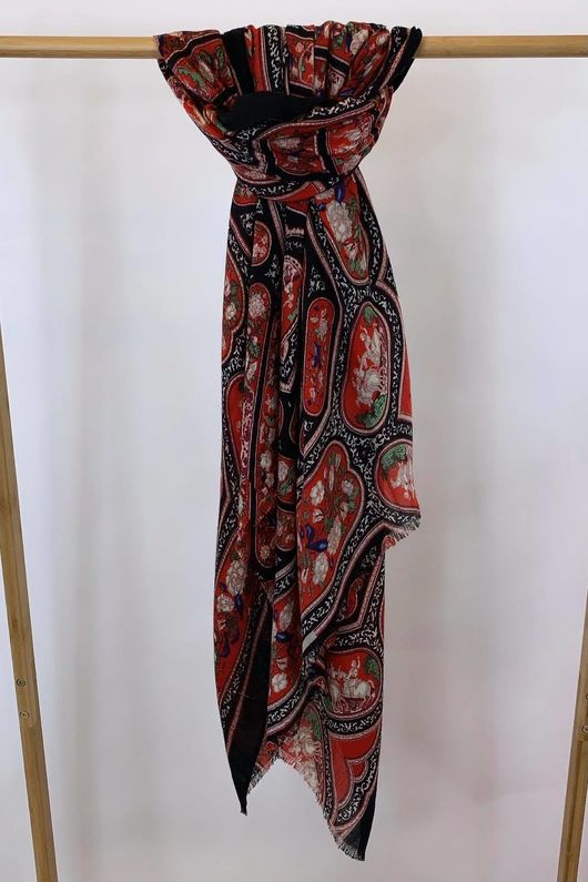 Dolce Sicilian Scarf Red