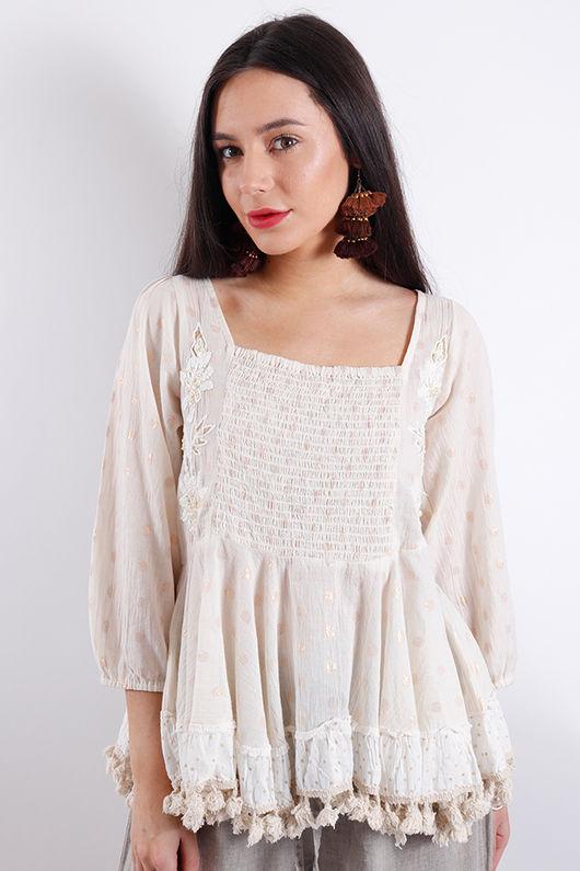 Eivissa Embroidered Spot Top
