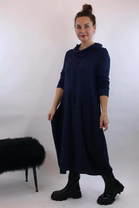 Fine Knit Scotch Dress Navy