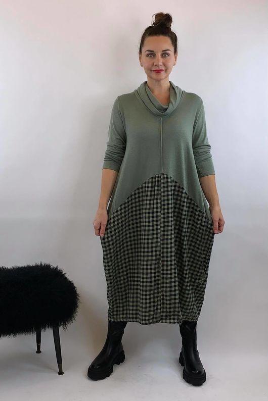 Fine Knit Scotch Dress Soft Khaki