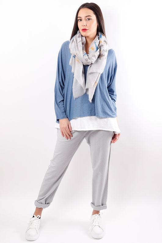 Fine Two Layer Knit Denim