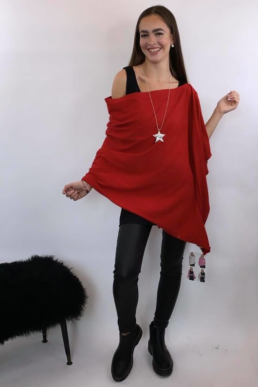 Five Way Knit Red
